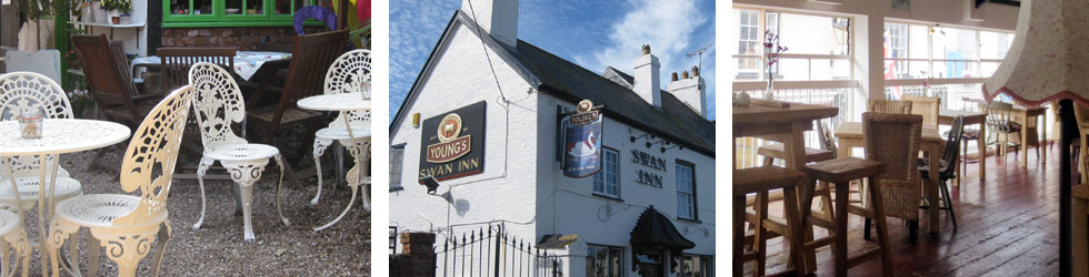 Photo: Selley's cafe, the Swan Inn and the Loft