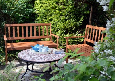 Sheltered outdoor seating
