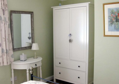 Dressing table and wardrobe in the double bedroom