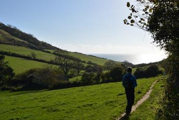 Photo: Walking near Salcombe Regis