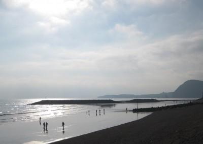 Walking on the beach in Winter sunshine