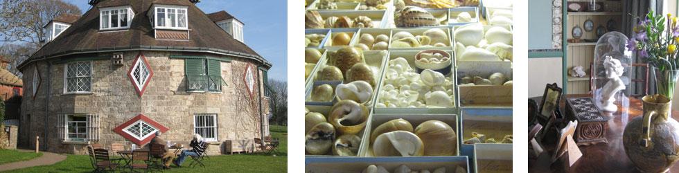 Photos: A La Ronde house, shell collection and interior