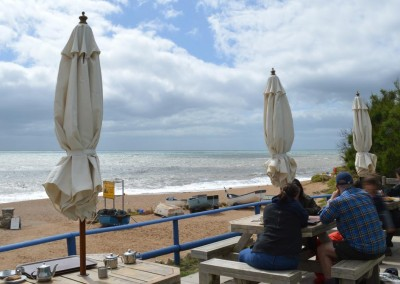 The Hive beach cafe at Burton Bradstock
