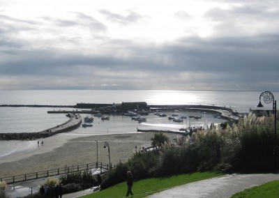The harbour and cobb at Lyme Regis