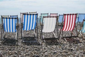 Photo: Deckchairs on Beer beach