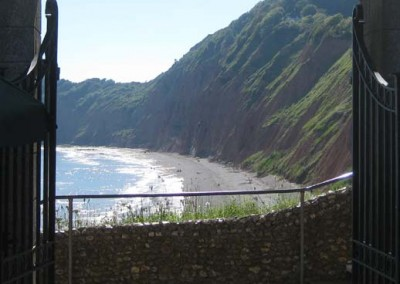 Jacob's Ladder beach from the Connaught Gardens