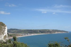 Photo: Seaton seen from the South West Coast Path