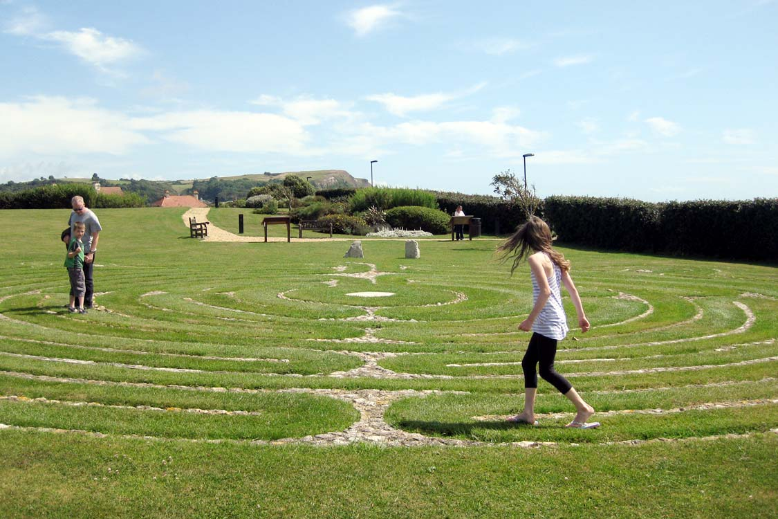 Photo: The Seaton labyrinth