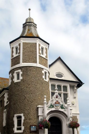 Photo: The Guildhall building in Lyme