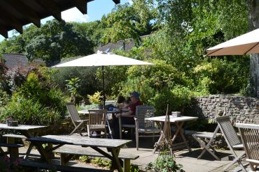 Photo: The cafe at Burrow Farm Gardens
