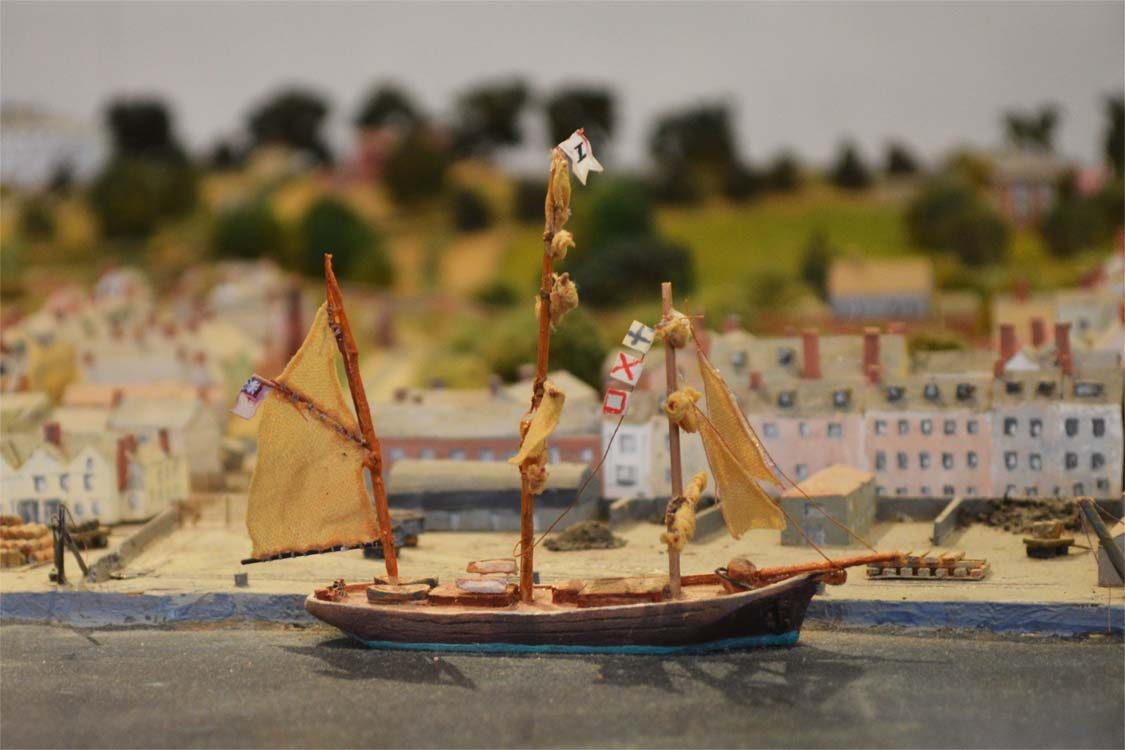Photo: Scale model of Topsham at the town museum