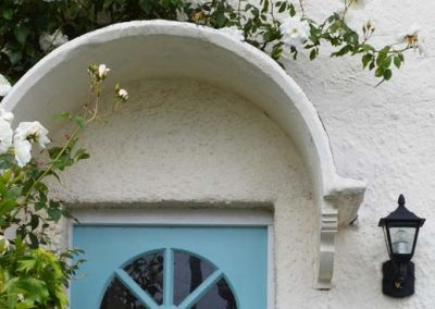 Roses over the front door