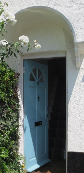 Photo: cottage front door