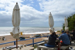 Photo: The Hive beach cafe at Burton Bradstock