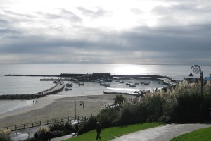 Photo: The harbour and cobb at Lyme Regis
