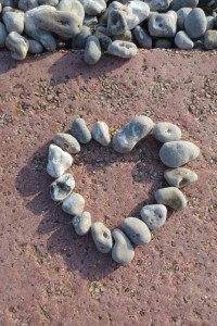 Photo: a pebble Valentine