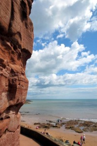 Photo: Red cliffs at Sidmouth
