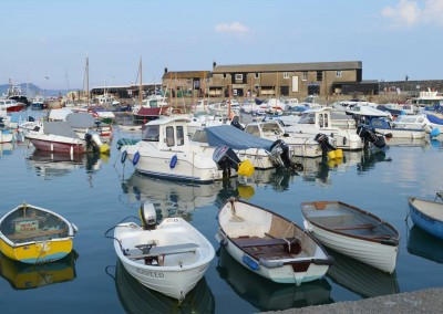 Photo: The Harbour at Lyme Regis