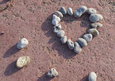 A pebble valentine