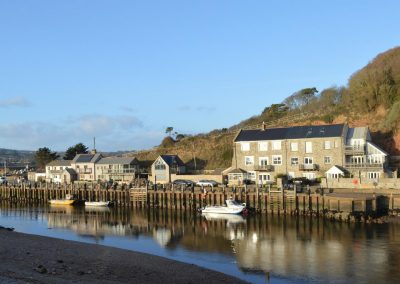 Photo: The Axe harbour at Seaton