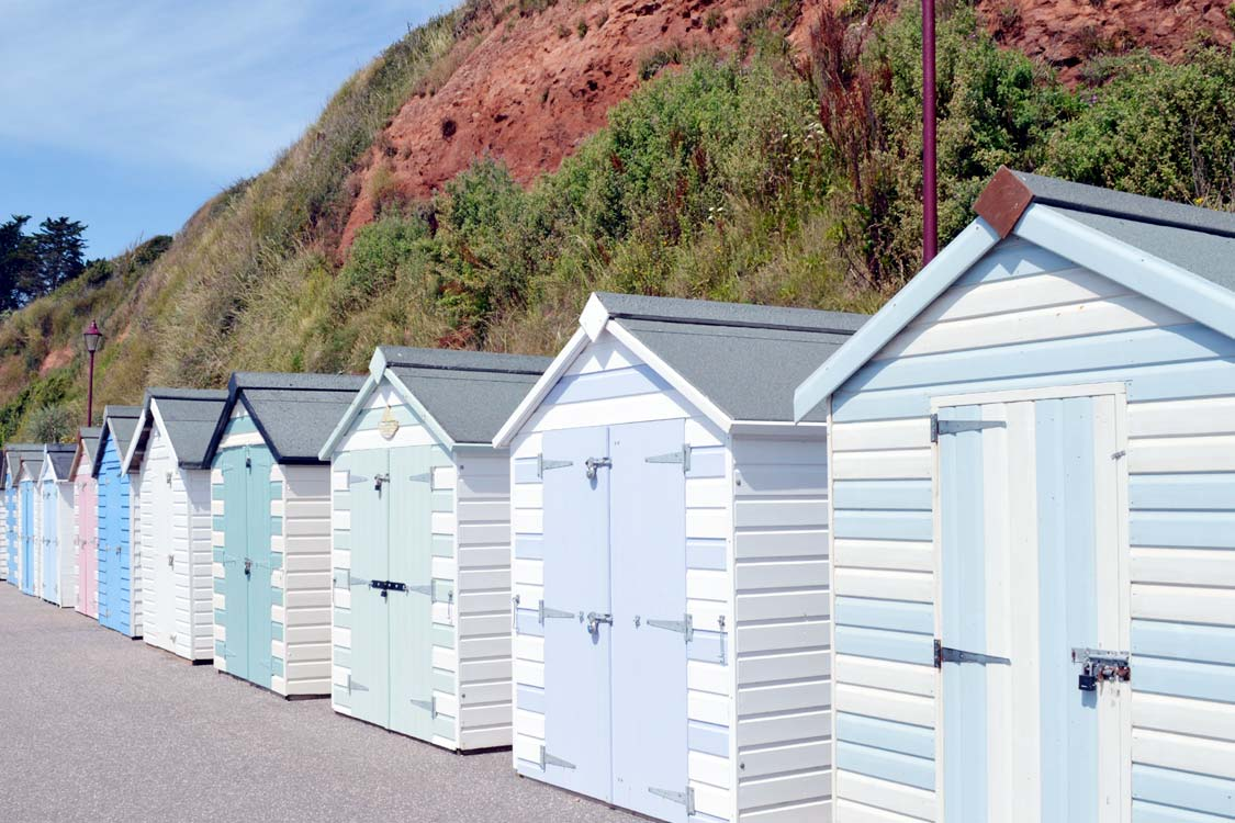 Photo: Beach huts on the Chine at Seaton