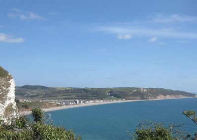Seaton seen from the South West Coast Path