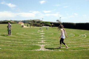 Photo: The Seaton labyrinth