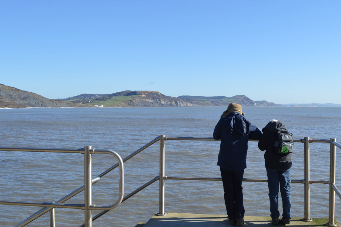 Photo: View from the sea wall at Lyme Regis
