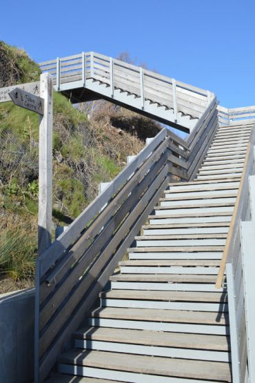 Photo: Steps up from the sea wall