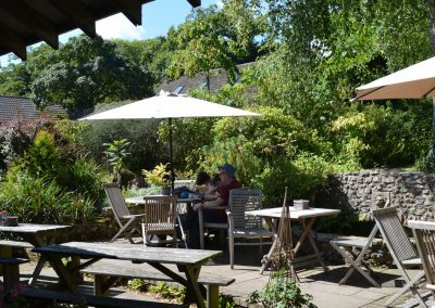 The cafe at Burrow Farm Gardens