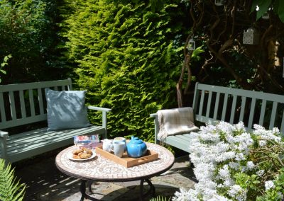 Photo: sunny secluded patio