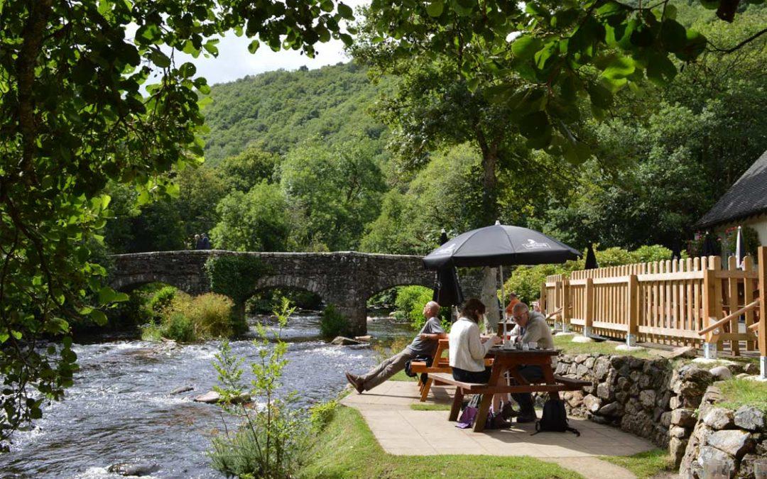 Photo: the Fingle Bridge pub