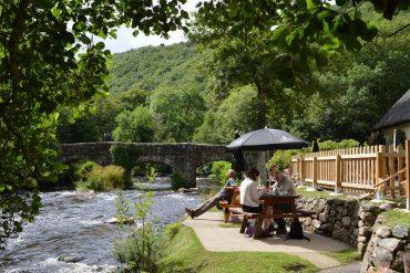 Photo: the Fingle Bridge Inn