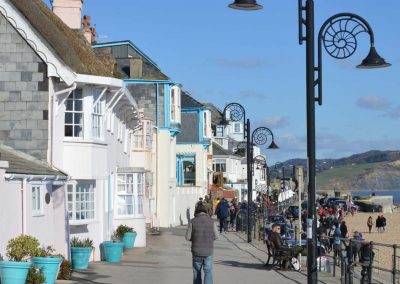 Photo: The sea front at Lyme