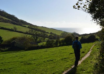 Walking from Salcombe Regis near Sidmouth