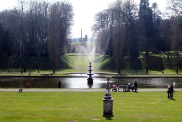 Photo: Bicton gardens lake and fountain