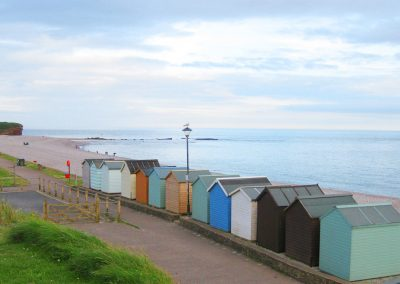 Photo: Beach huts at Budleigh Salterton