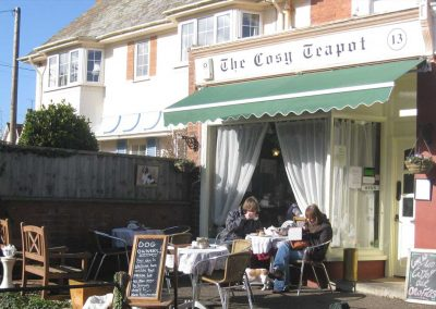 The Cosy Teapot cafe in Budleigh