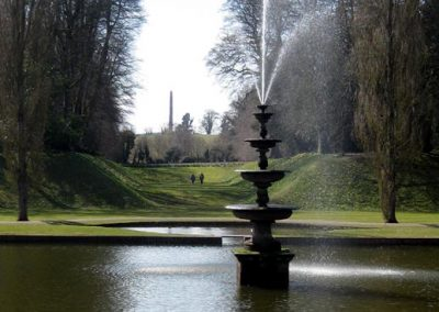 Photo: The lake and fountain at Bicton